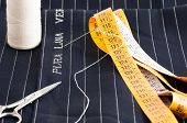 picture of tailoring  - view of a tailored suit from a tailor in his studio - JPG