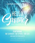 image of club party  - Hello Summer Beach Party Flyer - JPG