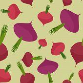 stock photo of beet  - Beet seamless pattern - JPG