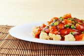image of malaysian food  - delicious chinese food on plate close up - JPG