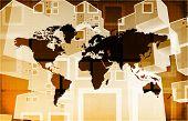 foto of logistics  - Global Business Logistics Software and Support Art - JPG