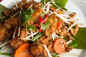 image of turnips  - Thai style radish cakes dish with chicken - JPG