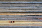stock photo of lumber  - stack of lumber for background  and texture