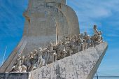 picture of conquistadors  - Monument to the Discoveries at Belem Lisbon Portugal - JPG