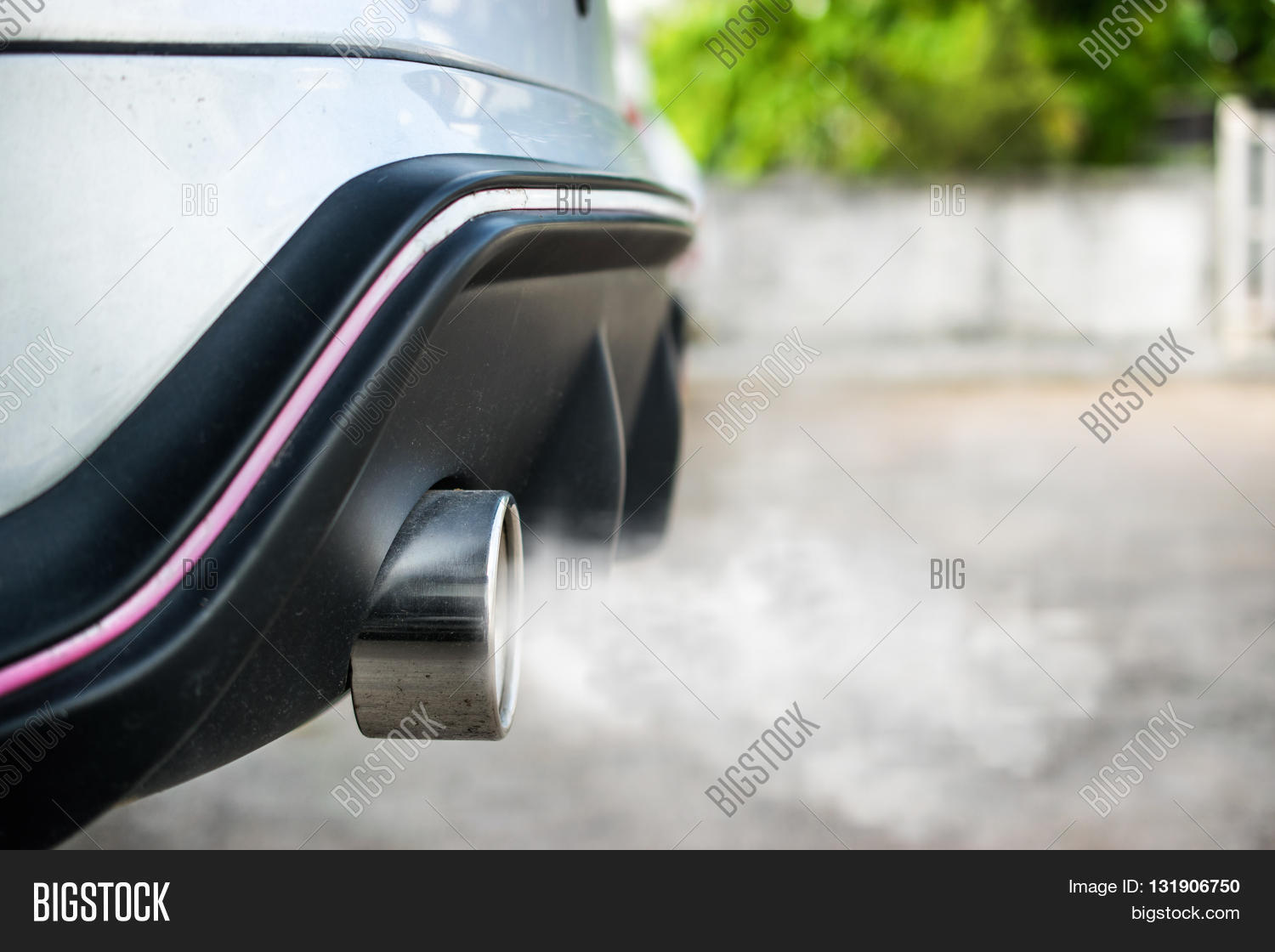 White smoke coming out of the tail pipes