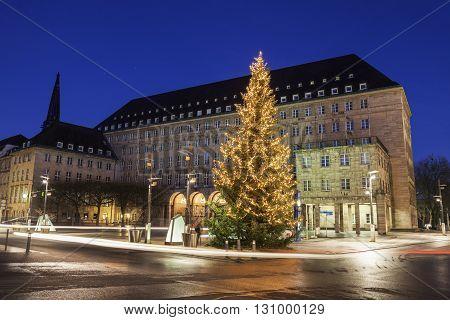 Bochum Rathaus at night. Bochum, North Rhine-Westphalia Germany