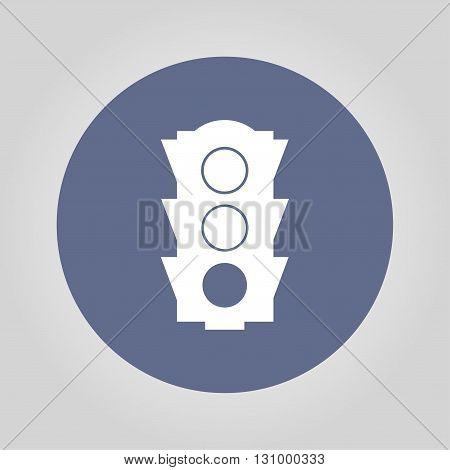 Icon traffic illustration. Vector flat design style