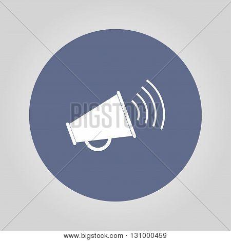 Megaphone icon. Flat design style eps 10