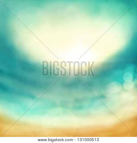 Abstract marine background with bokeh