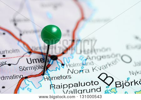 Hornefors pinned on a map of Sweden