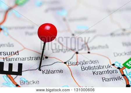 Kalarne pinned on a map of Sweden