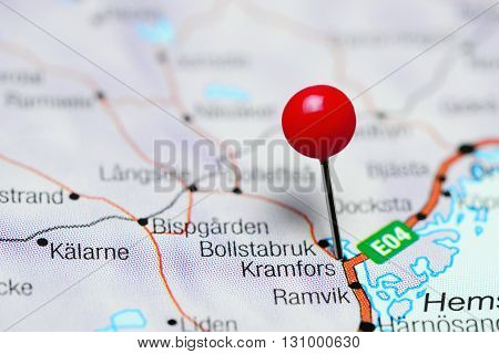 Kramfors pinned on a map of Sweden