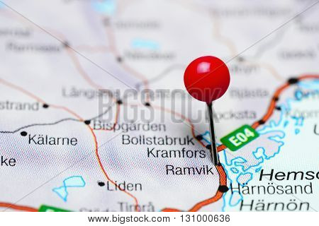 Ramvik pinned on a map of Sweden