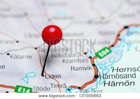 Liden pinned on a map of Sweden