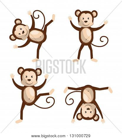 funny monkey design, vector illustration eps10 graphic