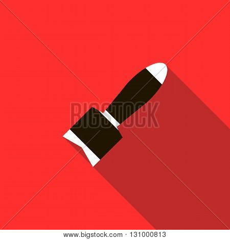 Air bomb icon in flat style on a red background
