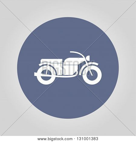 motorcycle icon isolated vector eps 10 illustration