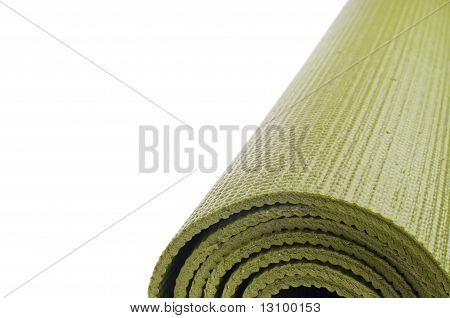 Rolled Yoga Mat Border Background