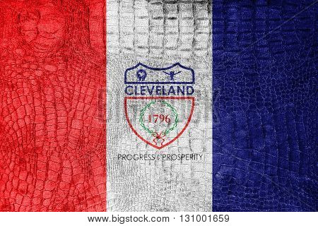 Flag Of Cleveland, Ohio, On A Luxurious, Fashionable Canvas