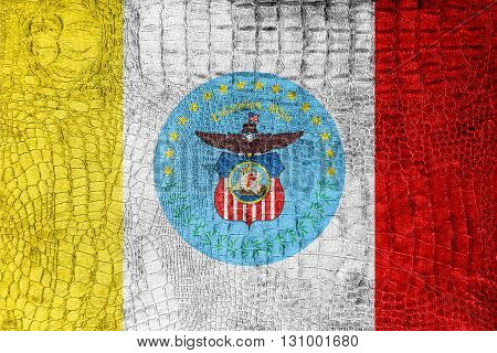 Flag Of Columbus, Ohio, On A Luxurious, Fashionable Canvas