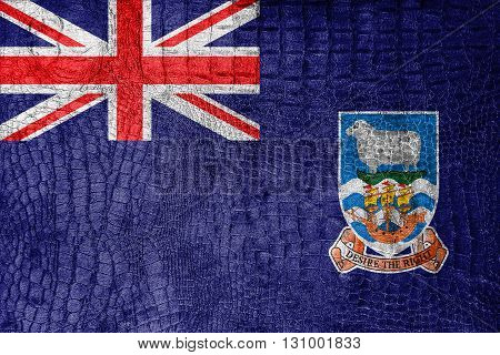 Flag Of Falkland Islands, On A Luxurious, Fashionable Canvas