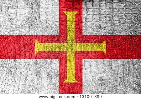Flag Of Guernsey, On A Luxurious, Fashionable Canvas