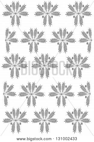 Floral background with floral pattern - vector illustration.