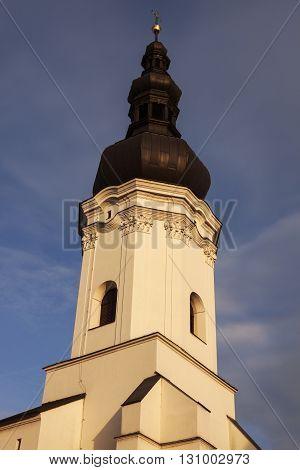 St. Vaclav Church in Ostrava. Ostrava Moravian-Silesian Region Czech Republic.