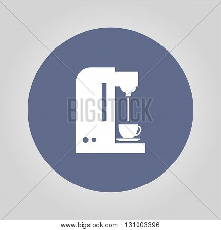 Coffee maker icon. Flat design style eps 10