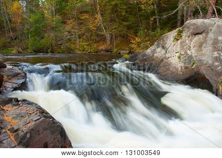 North Branch Pike River Eight Foot Falls Marinette county Wisconsin