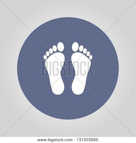 footprint - vector icon. Flat design style eps 10