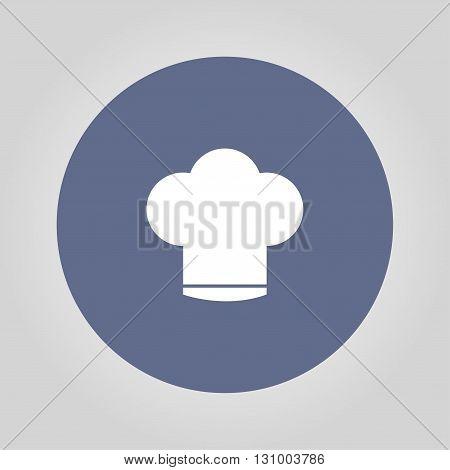 Chef cap vector icon. Flat design style eps 10