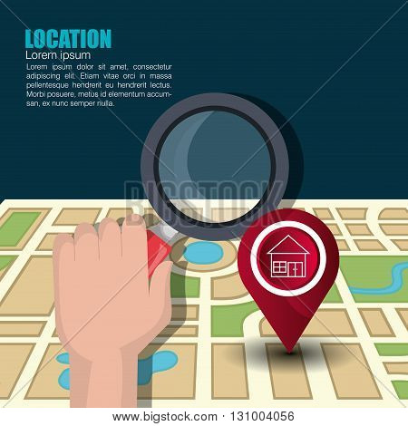 location icon design, vector illustration eps10 graphic
