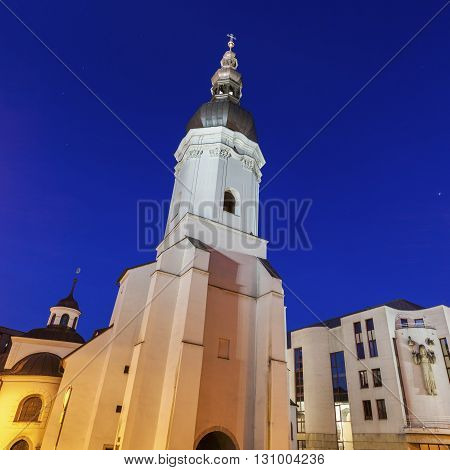 St. Vaclav Church in Ostrava. Ostrava Moravian-Silesian Region Czech Republic.