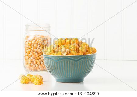Caramel and cheese popcorn mix commonly referred to as Chicago mix.