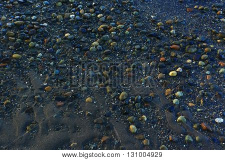 a picture of an Pacific Northwest beach shore line