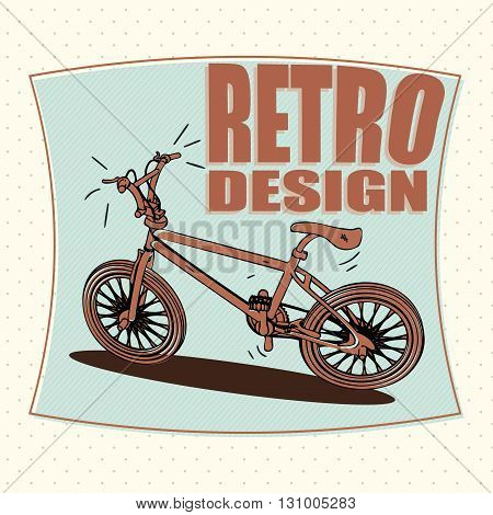 Bicycle outline icon modern minimal flat design style bike vector illustration