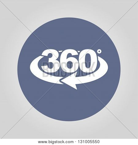 Rotation Of 360 Gradusav, Web Icon.