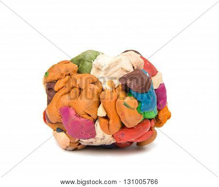 game modeling clay isolated on white background