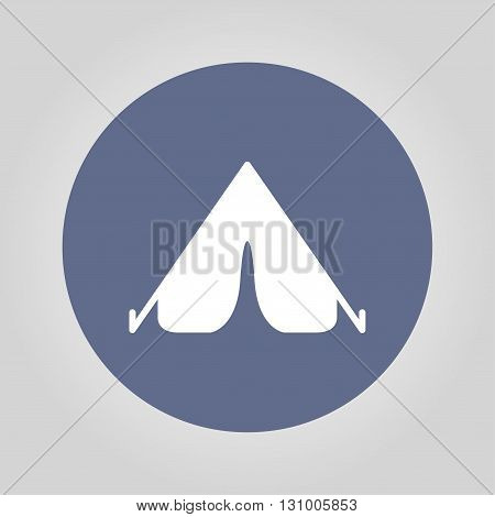 The Tent Icon. Travel Symbol. Flat Vector