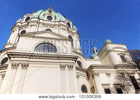 St. Charles's Church in Vienna. Vienna Austria.