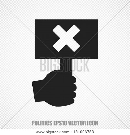 The universal vector icon on the politics theme: Black Protest. Modern flat design. For mobile and web design. EPS 10.