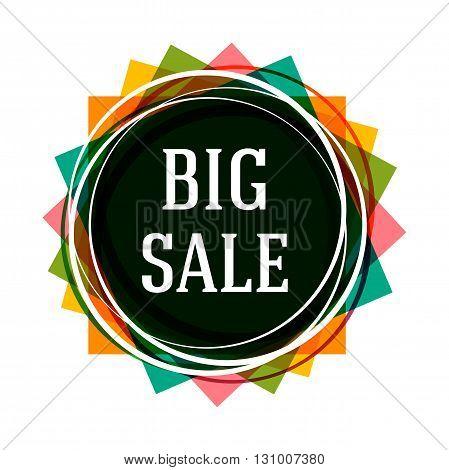 Big Sale Banner Design. Sale Vector Tag can use for promotion. Sale vector. Vector illustration