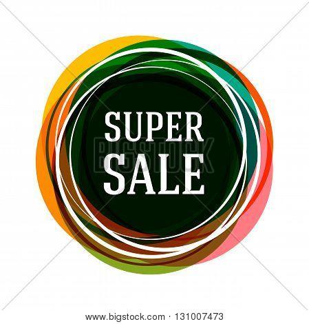 Super sale banner. Sale tag. Sale poster. Sale vector. Vector illustration