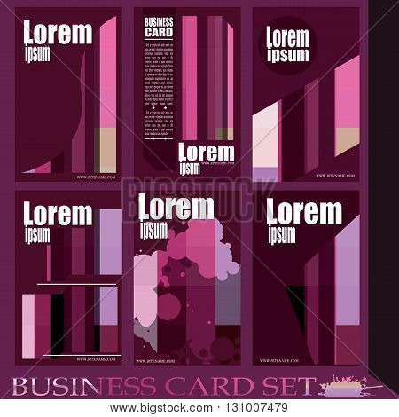 Business Card Stylish and modern vector set