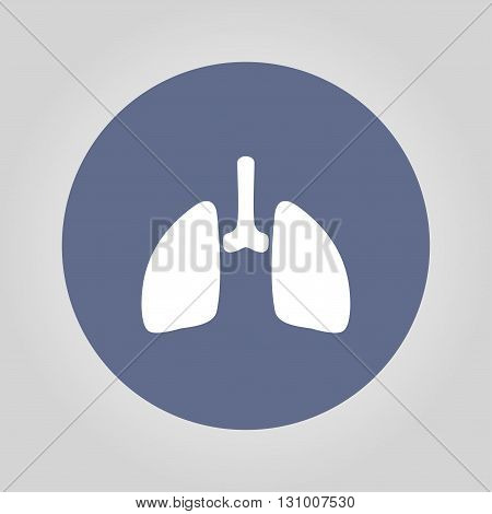 lungs icon. Flat design style eps 10