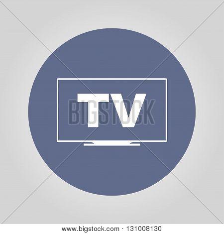 TV icon. Flat design style eps 10