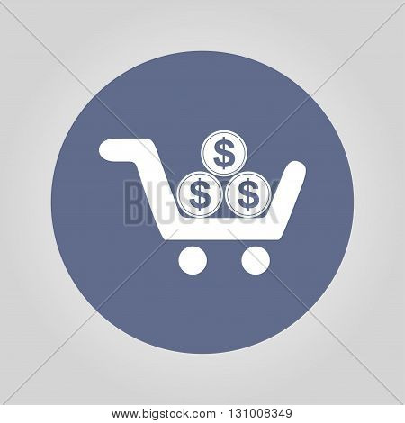Pictograph of money Flat design style eps 10