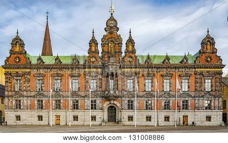 The town hall building situated in the Swedish city of Malmo.