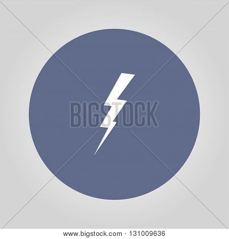 lightning vector illustration or icon flat design